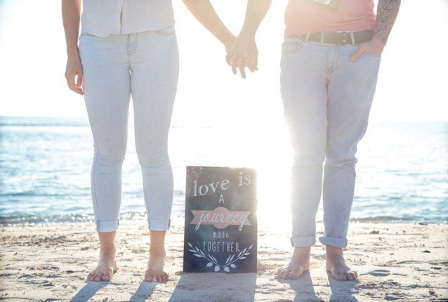 Love is a journey poster sign