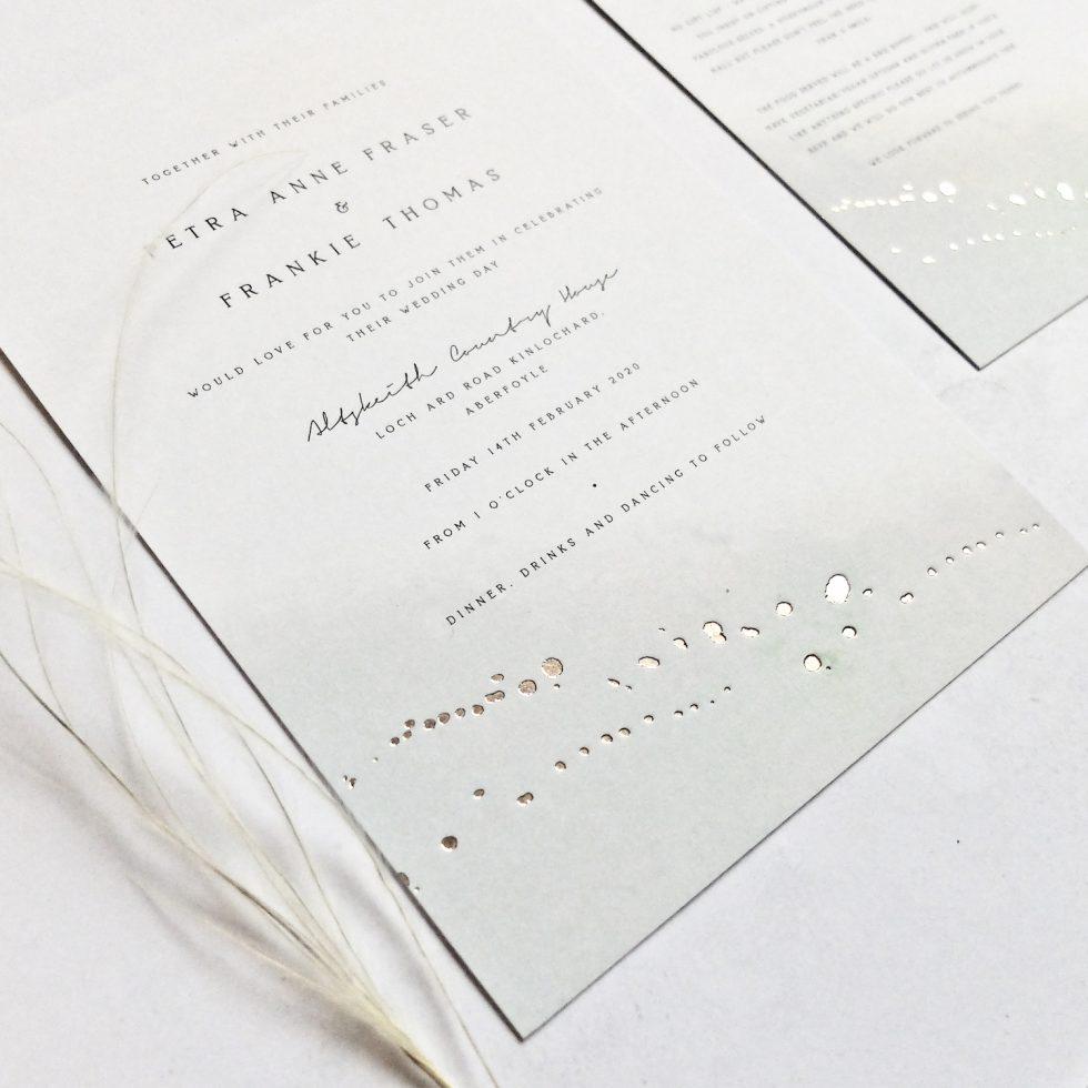 modern uk wedding stationery