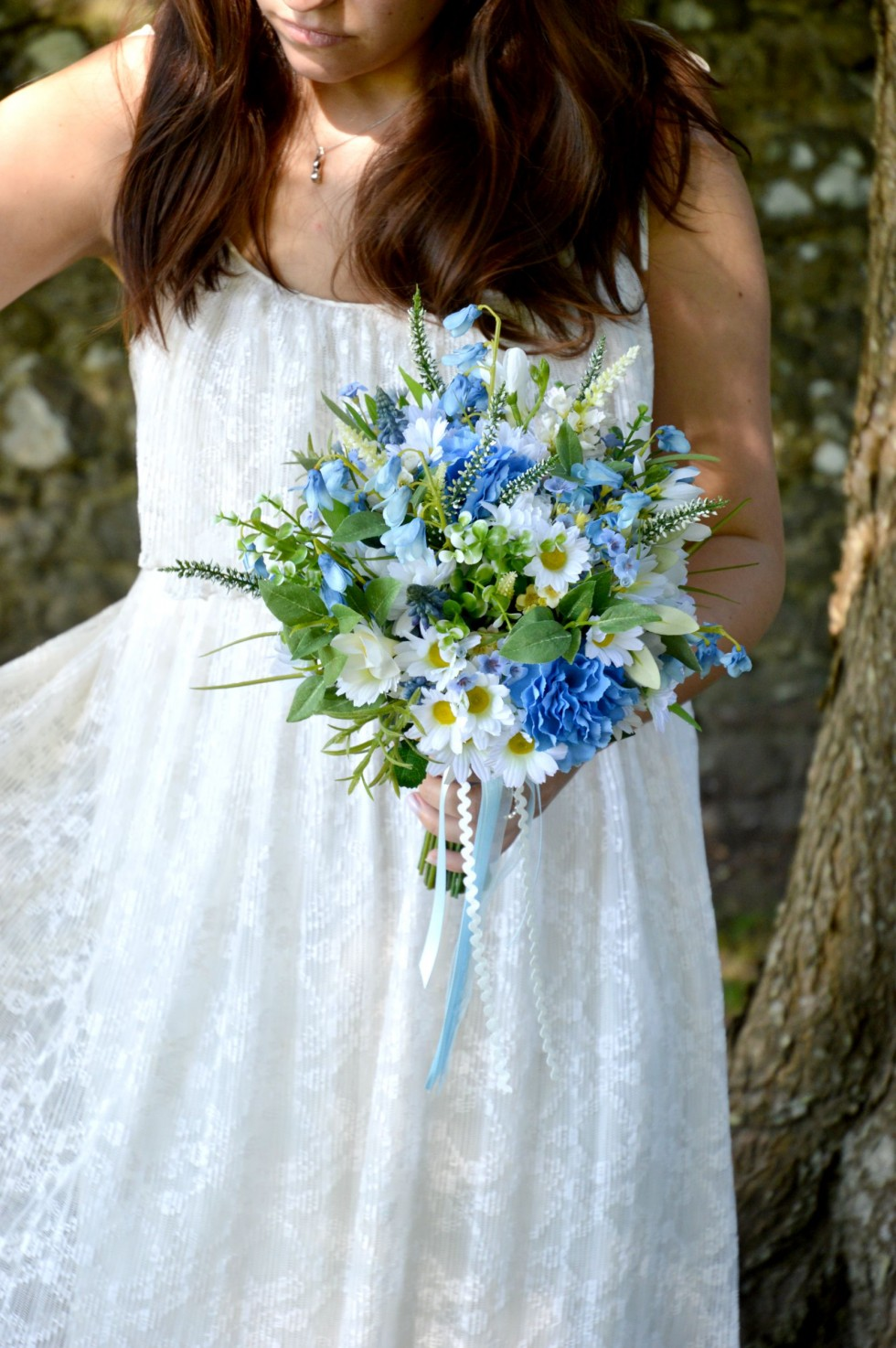 silk, faux, wedding, bouquet