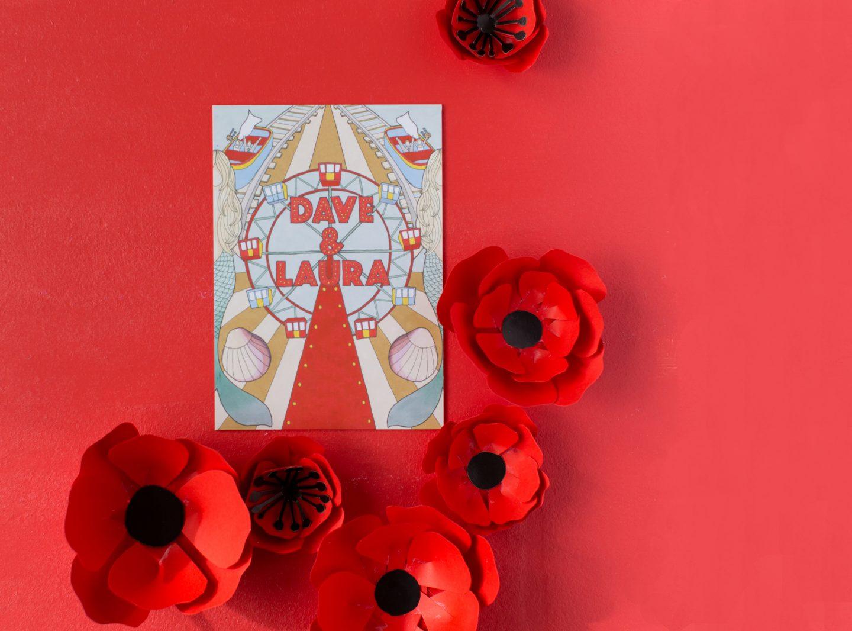 bespoke wedding stationery by Laura Henderson Illustration