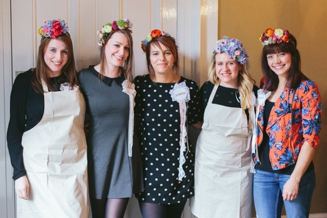 flower crown workshops scotland hen party ideas creative wedding florists