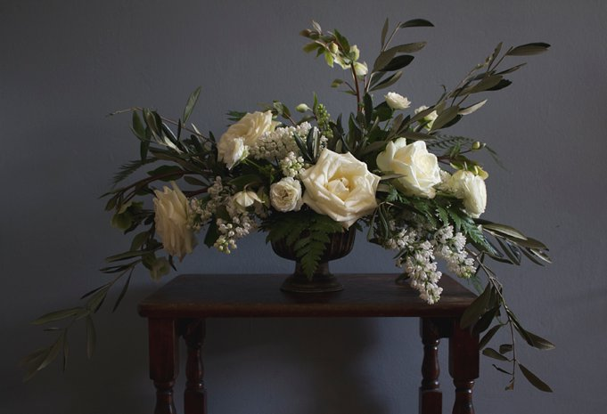 naturally styled flowers