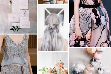 silver muted pinks inspiration colour wedding