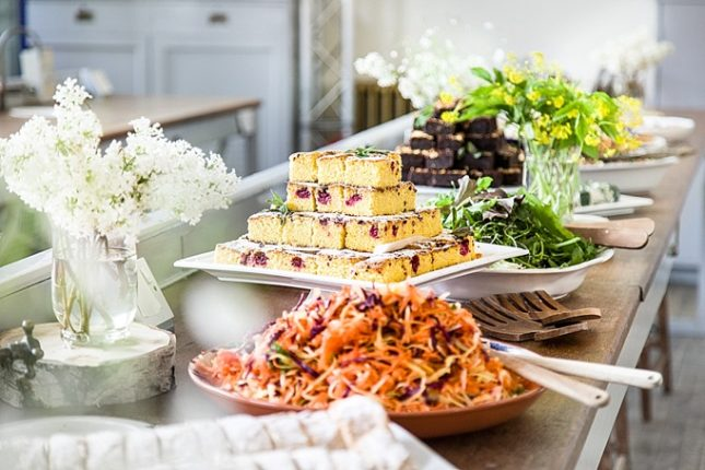 rustic wedding buffets