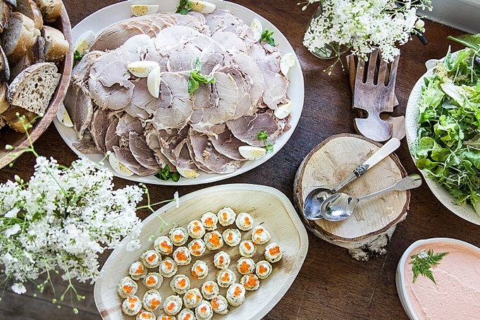 rustic wedding buffets