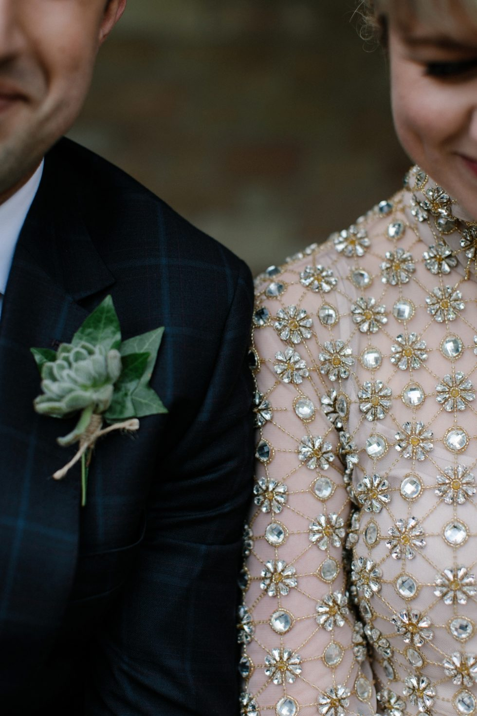 Golden Temperley dress at Rowallan Castle Wedding