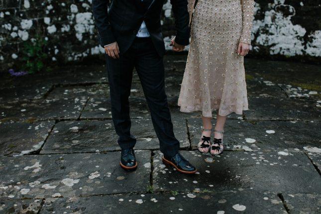 Gold Temperley Wedding Dress Alt Wedding