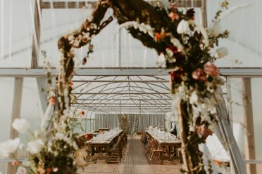 boho wild rustic barn wedding